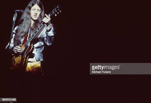 American musician Patrick Simmons of rock group The Doobie Brothers 1974
