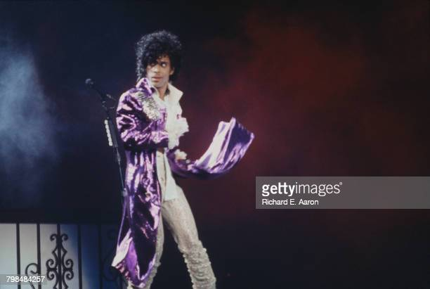 American musician Prince performing on the Purple Rain Tour USA 1984