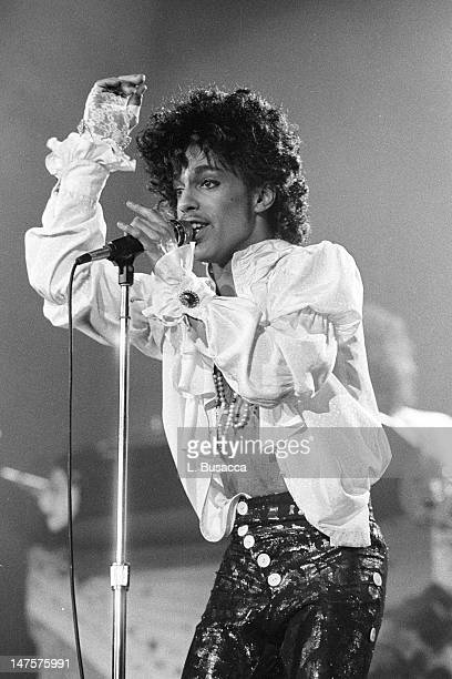 American musician Prince performs in concert, New York, New York, circa 1991.