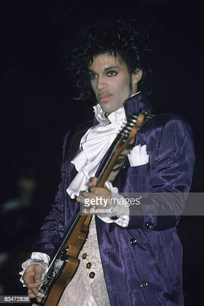 American musician Prince performs in concert, New York, New York, circa 1989.