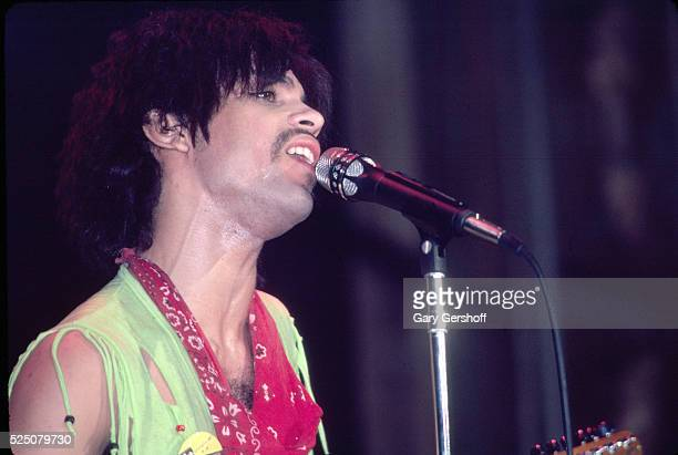American musician Prince performs onstage at the Ritz during his 'Dirty Mind' tour New York New York March 22 1981