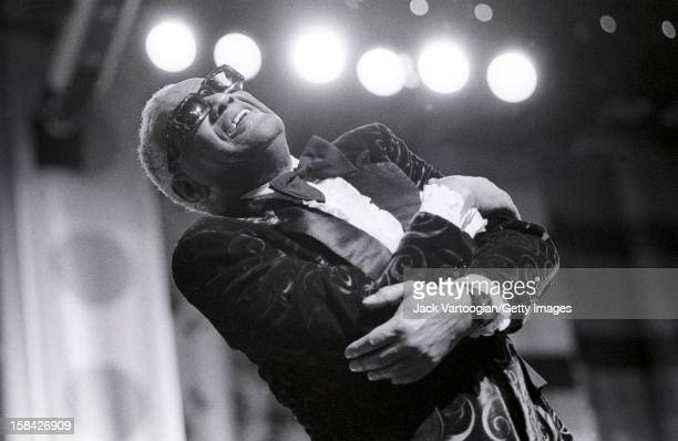 American musician Ray Charles performs at Harlem's Apollo Theater New York New York November 10 1990