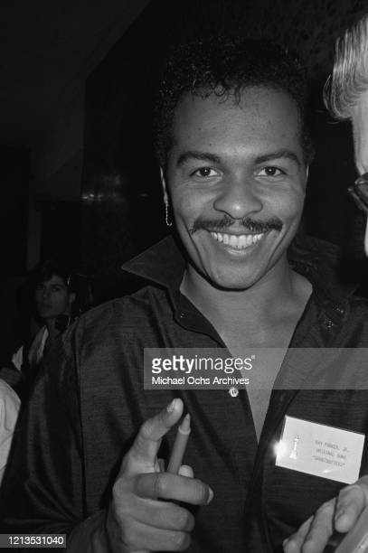 American musician Ray Parker Jr, whose theme song 'Ghostbusters' is nominated for Best Original Song at the 57th Academy Awards, USA, 1985.