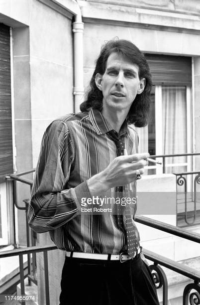 American musician Ric Ocasek of The Cars at the George V Hotel in Paris, France on November 25, 1978.
