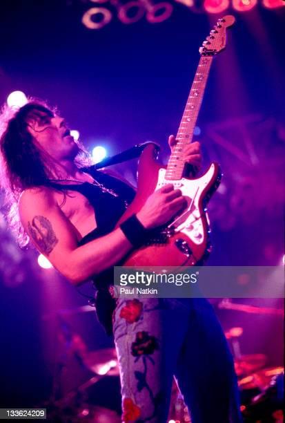 American musician Richie Sambora of the band Bon Jovi performs at the Rosemont Horizon Rosemont Illinois March 15 1993