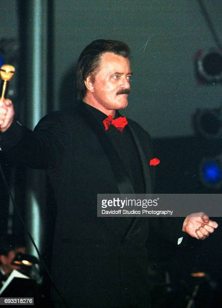 American musician Robert Goulet performs onstage at the MaraLago Club Palm Beach Florida December 13 1997