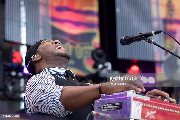 American musician Robert Randolph performs onstage at Eric Clapton's Crossroads Guitar Festival at Toyota Park Bridgeview Illinois June 26 2010