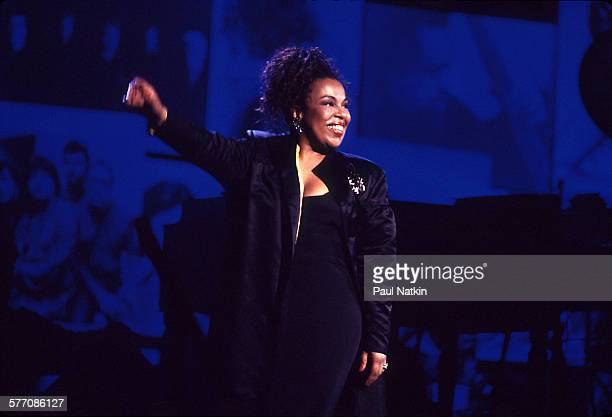 American musician Roberta Flack onstage at Madison Square Garden for the Atlantic Records 40th anniversary concert New York New York May 14 1988