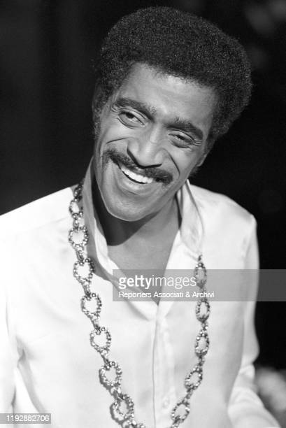 American musician Sammy Davis Jr acting in One More Time London 1969