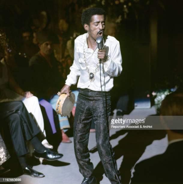American musician Sammy Davis Jr singing in One More Time London 1969