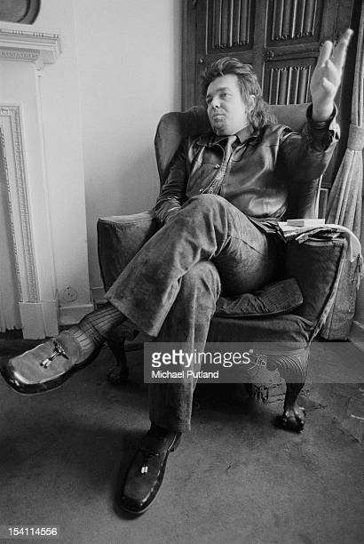 American musician singer songwriter and painter Captain Beefheart at the offices of publicist Tony Brainsby in London during the 'Spotlight Kid' tour...