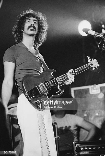 American musician singersongwriter and composer Frank Zappa performing at Wembley Empire Pool London 14th September 1973
