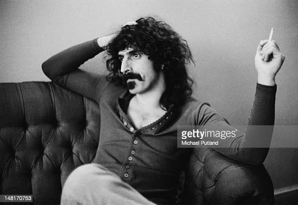 American musician singersongwriter and composer Frank Zappa at the Royal Garden Hotel Kensington London 25th November 1971