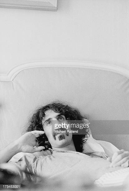American musician singersongwriter and composer Frank Zappa UK 1973