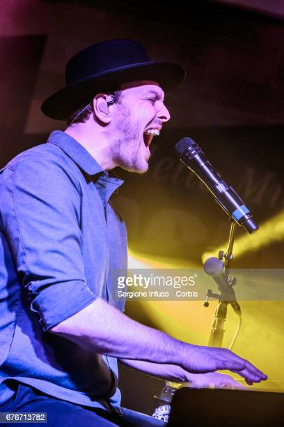 American musician, singer-songwriter Gavin DeGraw performs on stage on May 2, 2017 in Milan, Italy.