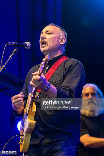 American musician Smokey Hormel performs with the Watkins Family Hour Band during a performance in celebration of the 50th anniversary of Bob Dylan's...