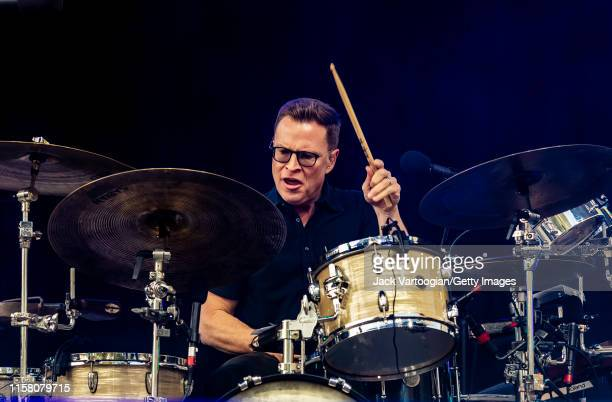 American musician Stanton Moore of the jam band Galactic plays drums as he performs onstage at Central Park SummerStage New York New York June 4 2019...