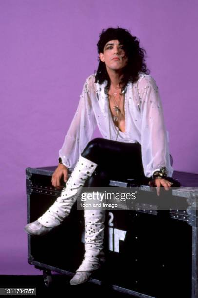 American musician Stephen Pearcy, of the American glam metal band Ratt, poses for a portrait during the Invasion of Your Privacy Tour on July 18,...