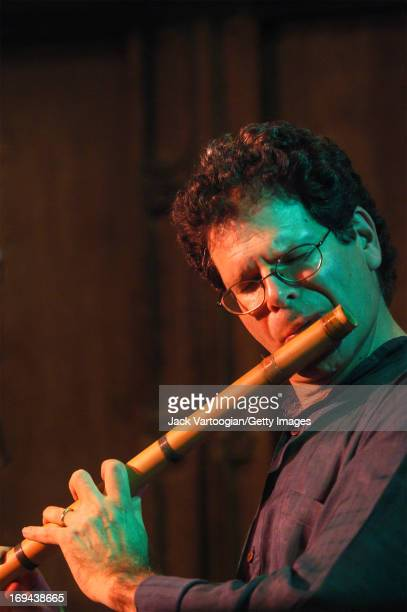 American musician Steve Gorn performs on bansuri flute at the 4th Annual Chhandayan AllNight Concert of Indian Classical Music at the Synod Hall of...