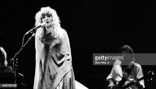 American musician Stevie Nicks of the group Fleetwood Mac performs onstage at the Los Angeles Forum Inglewood California December 6 1979 Partly...