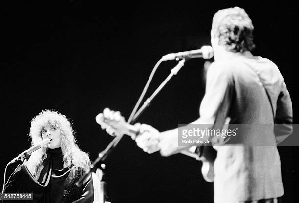 American musician Stevie Nicks of the group Fleetwood Mac performs onstage at the Los Angeles Forum, Inglewood, California, December 6, 1979. In the...