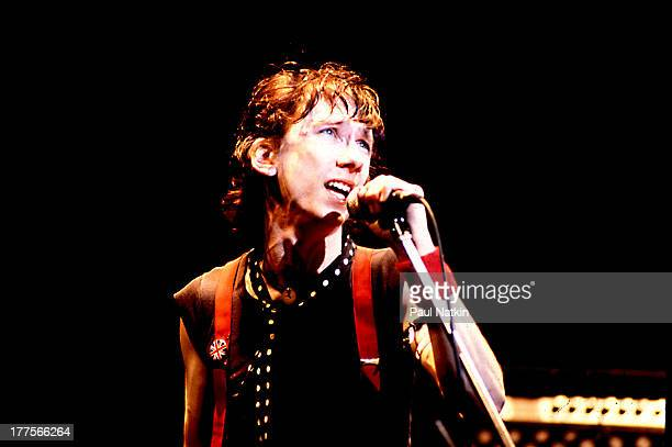 American musician Stiv Bators performs on stage Chicago Illinois March 21 1980 He formerly sang with the band The Dead Boys