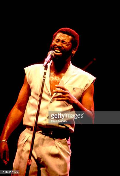 American musician Teddy Pendergrass performs onstage Memhis Tennessee June 1 1981