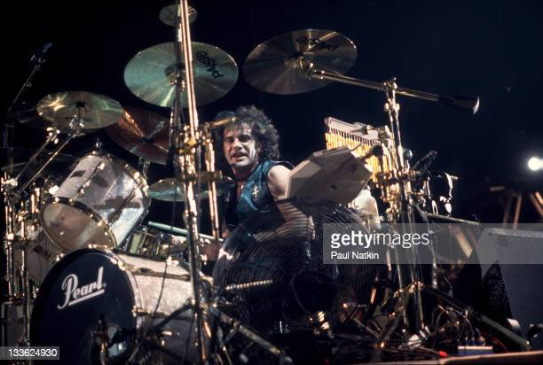 American musician Tico Torres of the band Bon Jovi at Met Center on Bloomington Minnesota April 4 1989