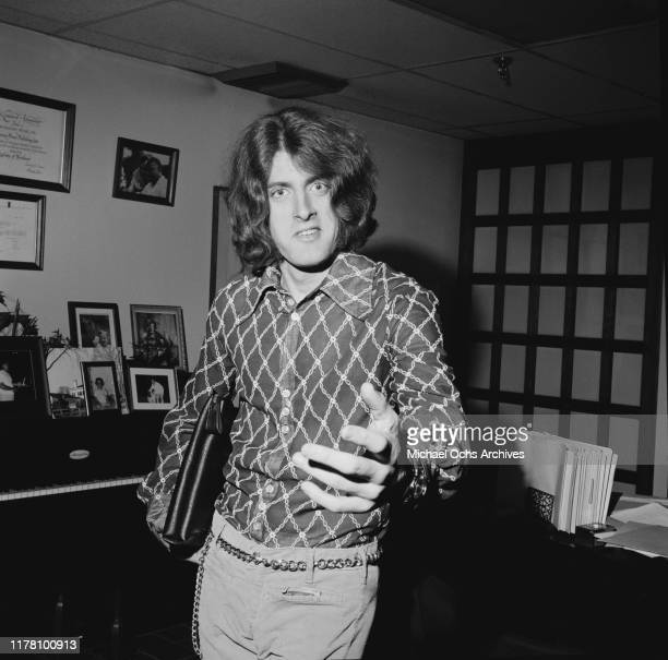 American musician Tommy James of the band Tommy James and the Shondells after resigning his contract with Roulette Records president Morris Levy USA...