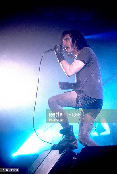 American musician Trent Reznor of the group Nine Inch Nails performs onstage Chicago Illinois May 8 1994