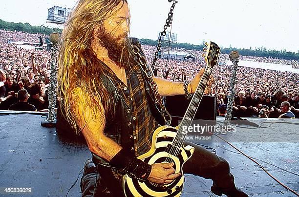 American musician Zakk Wylde on stage at Ozzfest California USA 2001