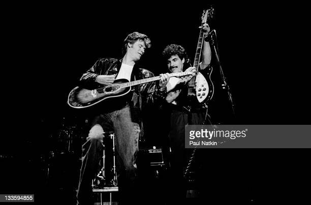 American musicians Darryl Hall and John Oates perform at Park West Chicago Illinois November 23 1979