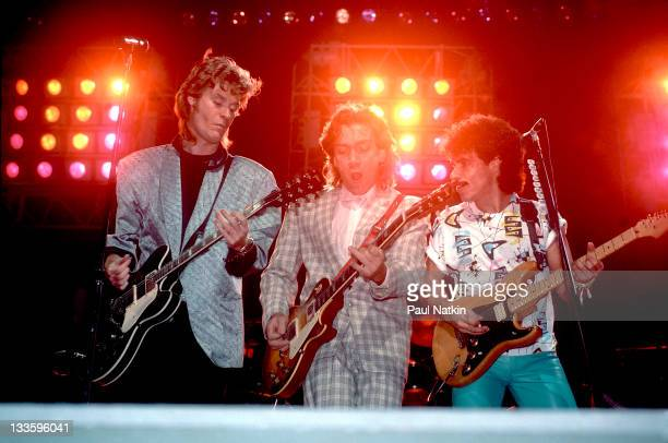 American musicians Darryl Hall GE Smith and John Oates perform as Hall Oates at the Hartford Civic Center Hartford Connecticut November 1 1984