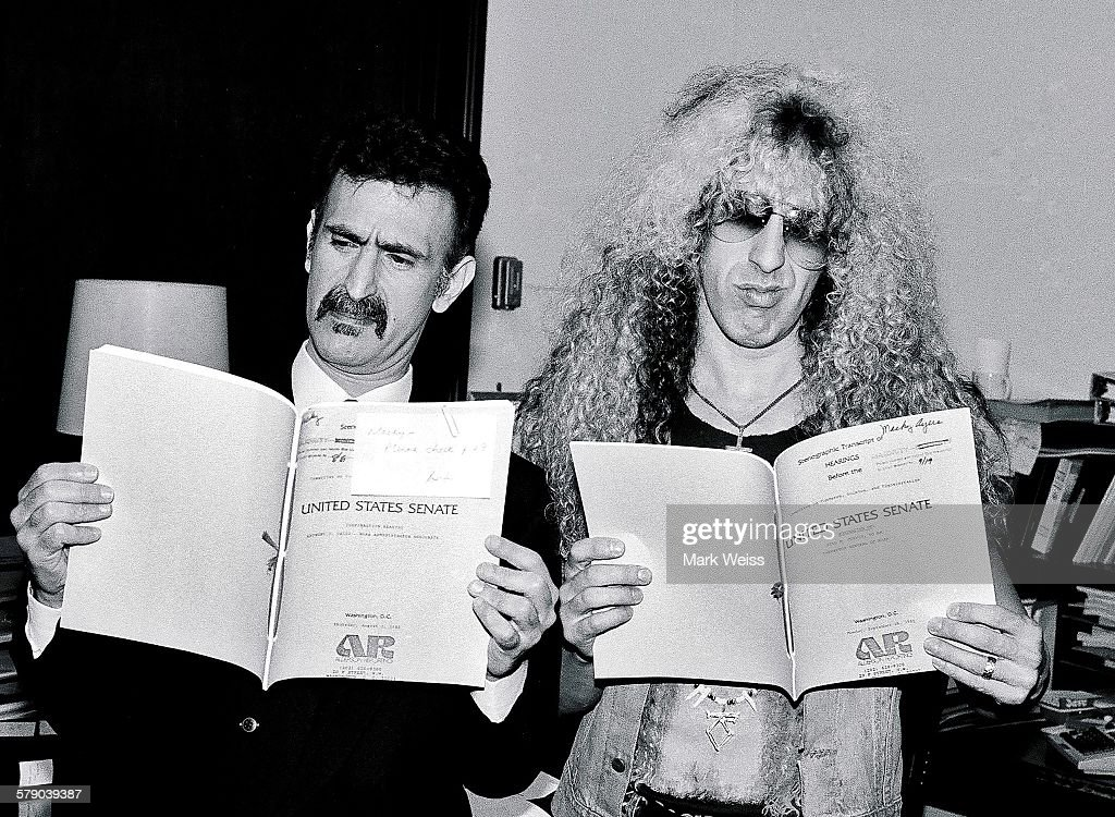 PMRC Senate Hearings 1985 : News Photo