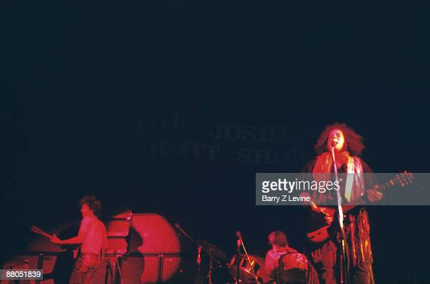 American musicians Felix Pappalardi ND Smart and Leslie West of the group Mountain perform onstage at the Woodstock Music and Arts Fair in Bethel New...