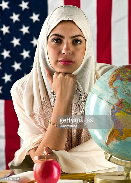 american muslim college student - iranian woman stock photos and pictures