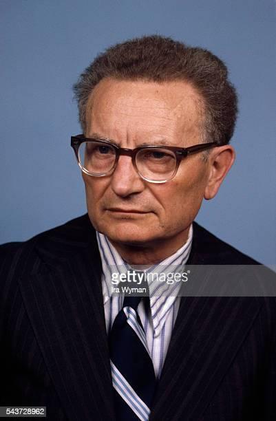 American neoclassical economist Paul Samuelson, winner of the Nobel Memorial Prize in Economic Sciences in 1970.