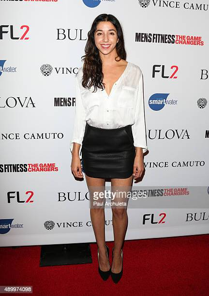 American Ninja Warrior Laura Kisana attends the annual 'Game Changers' celebration hosted by Men's Fitness magazine at Palihouse on September 24 2015...