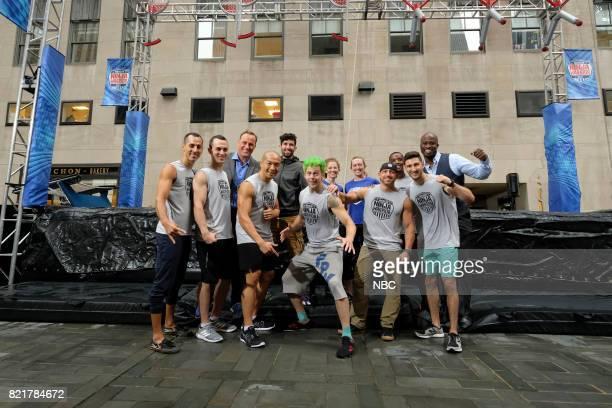 TODAY American Ninja Warrior on the Plaza Pictured Jonathan Angelilli Joseph Moravsky Matt Iseman James McGrath Jimmy Choi Rachael Goldstein Jamie...