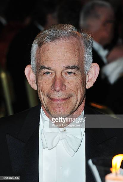 American Nobel Prize for economics laureate Christopher Sims attends the Nobel Prize Banquet at Stockholm City Hall on December 10 2011 in Stockholm...