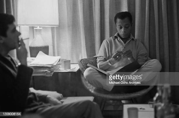 American novelist and activist James Baldwin USA October 1963