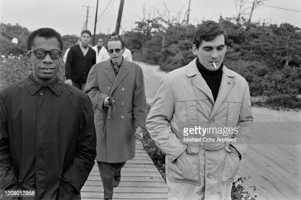 American novelist and activist James Baldwin with friends USA October 1963