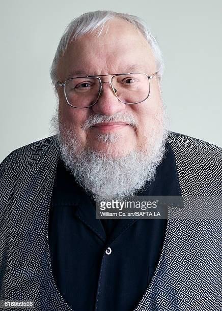 American novelist and short-story writer, screenwriter, and television producer George R. R. Martin poses for a portrait BBC America BAFTA Los...