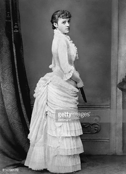 American novelist Edith Wharton during her early European trip ca 1885