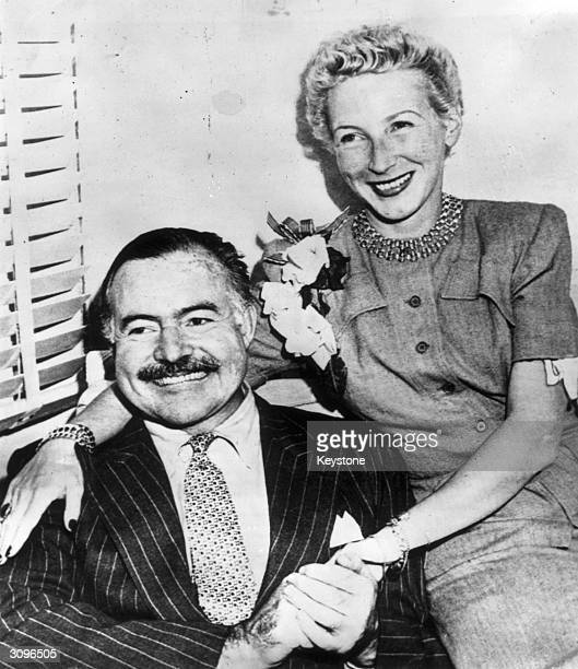 American novelist Ernest Millar Hemingway and his fourth wife Mary Welsh