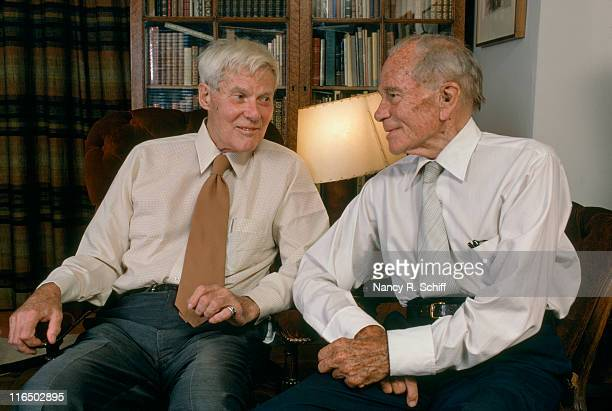 American novelist Glenway Wescott with his life partner Monroe Wheeler 1982