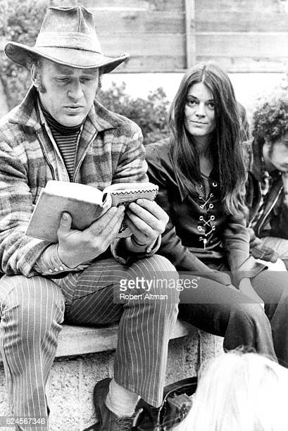 American novelist Ken Kesey and Rosemary Leary reading the I Ching at the Family Dog by the Bay Free Tim Leary circa January 1970 in San Francisco...