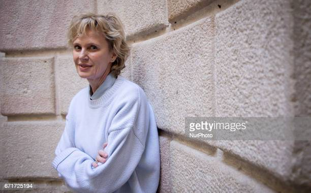 American novelist Siri Hustvedt in Barcelona Spain poses for press during the presentation of her last compilation in Barcelona April 21 2017