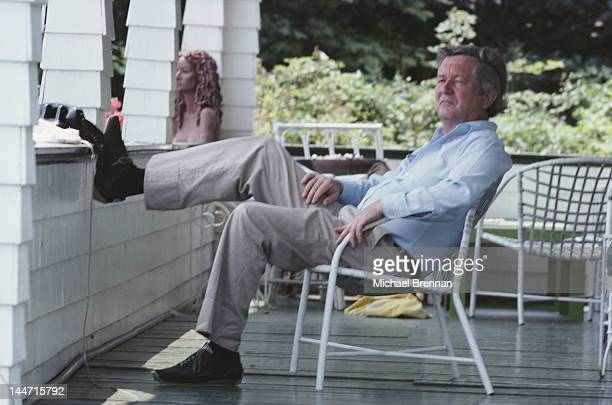 American novelist William Styron in Bridgehampton New York July 1975 He wrote the novel 'Sophie's Choice' which was later made into a film