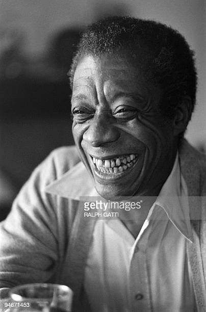 American novelist writer playwright poet essayist and civil rights activist James Baldwin poses at his home in SaintPauldeVence southern France on...